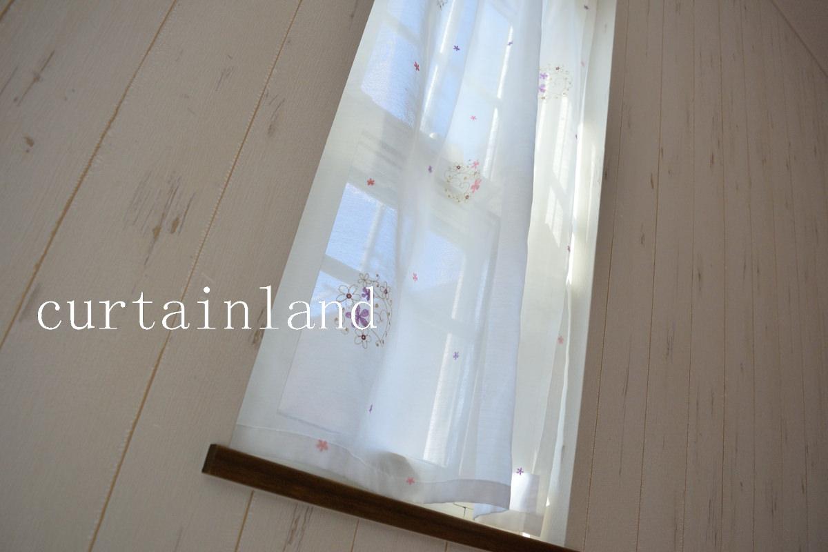小窓レースカーテン