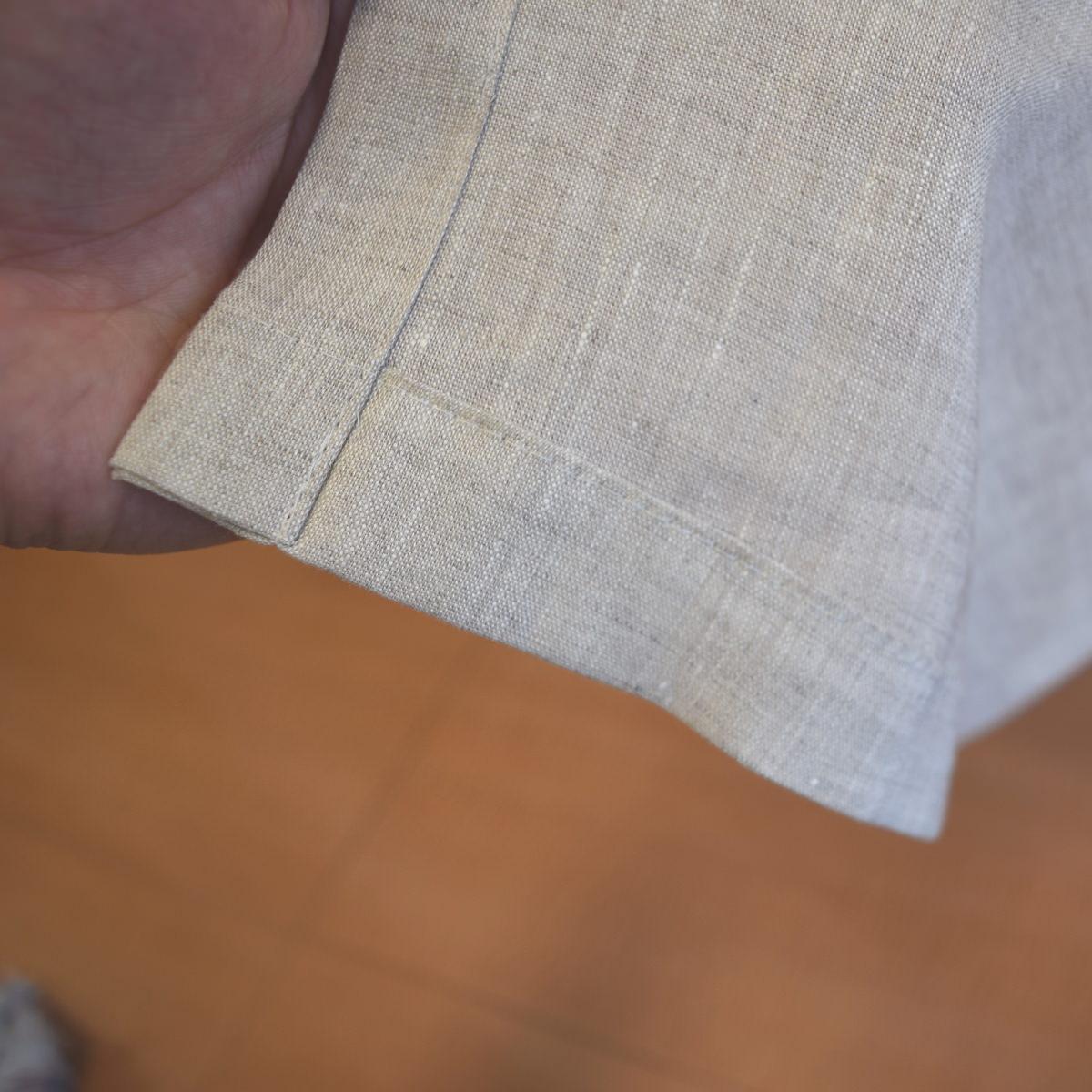 リネンカーテン裾折り返し