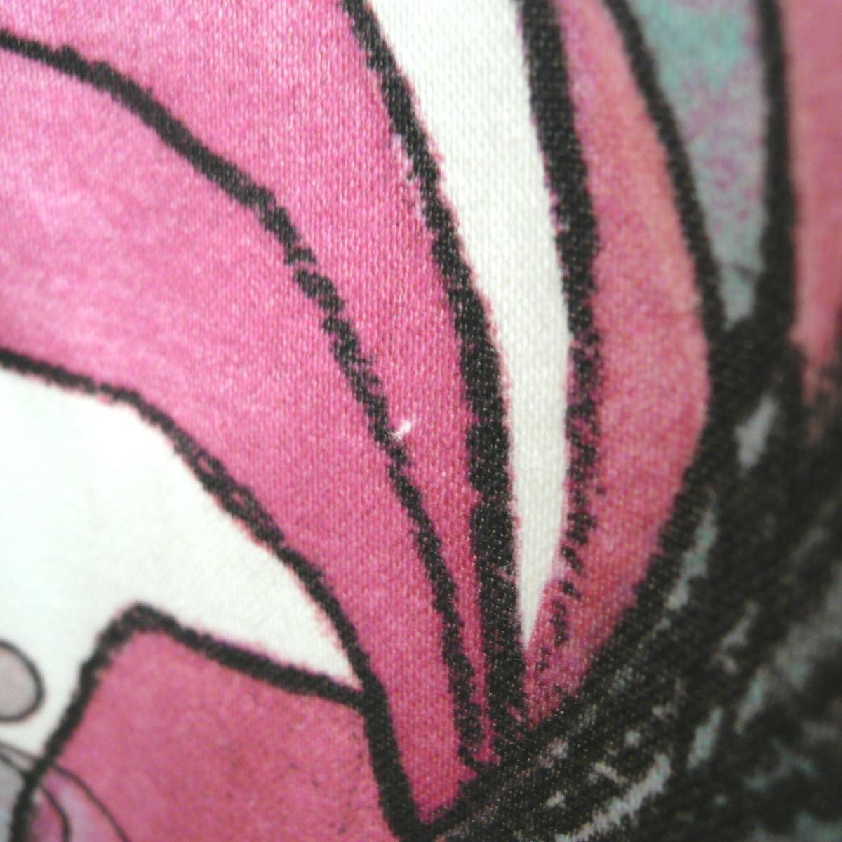 起毛したコットンプリントカーテン