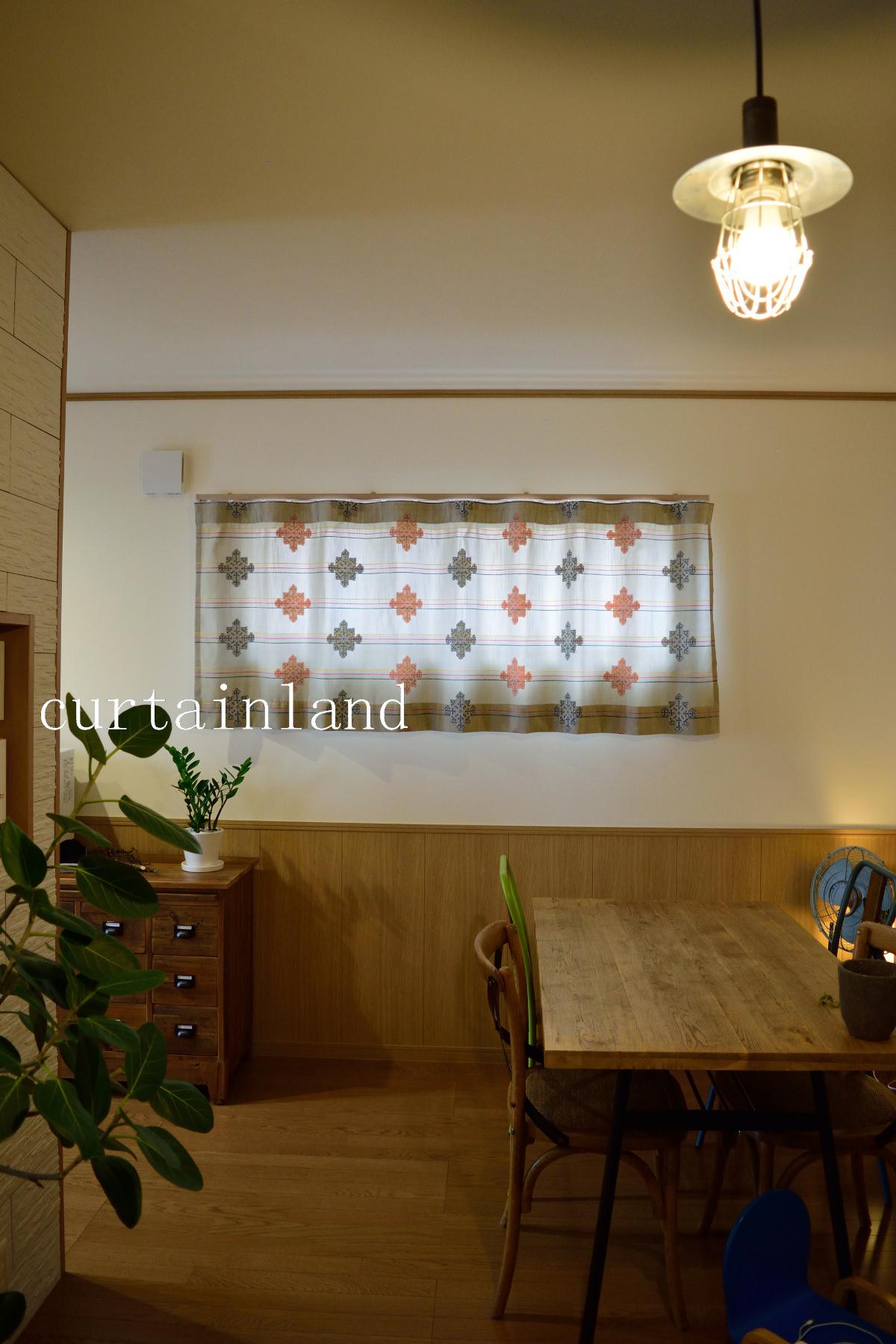 ボヘミアンインテリアカーテン