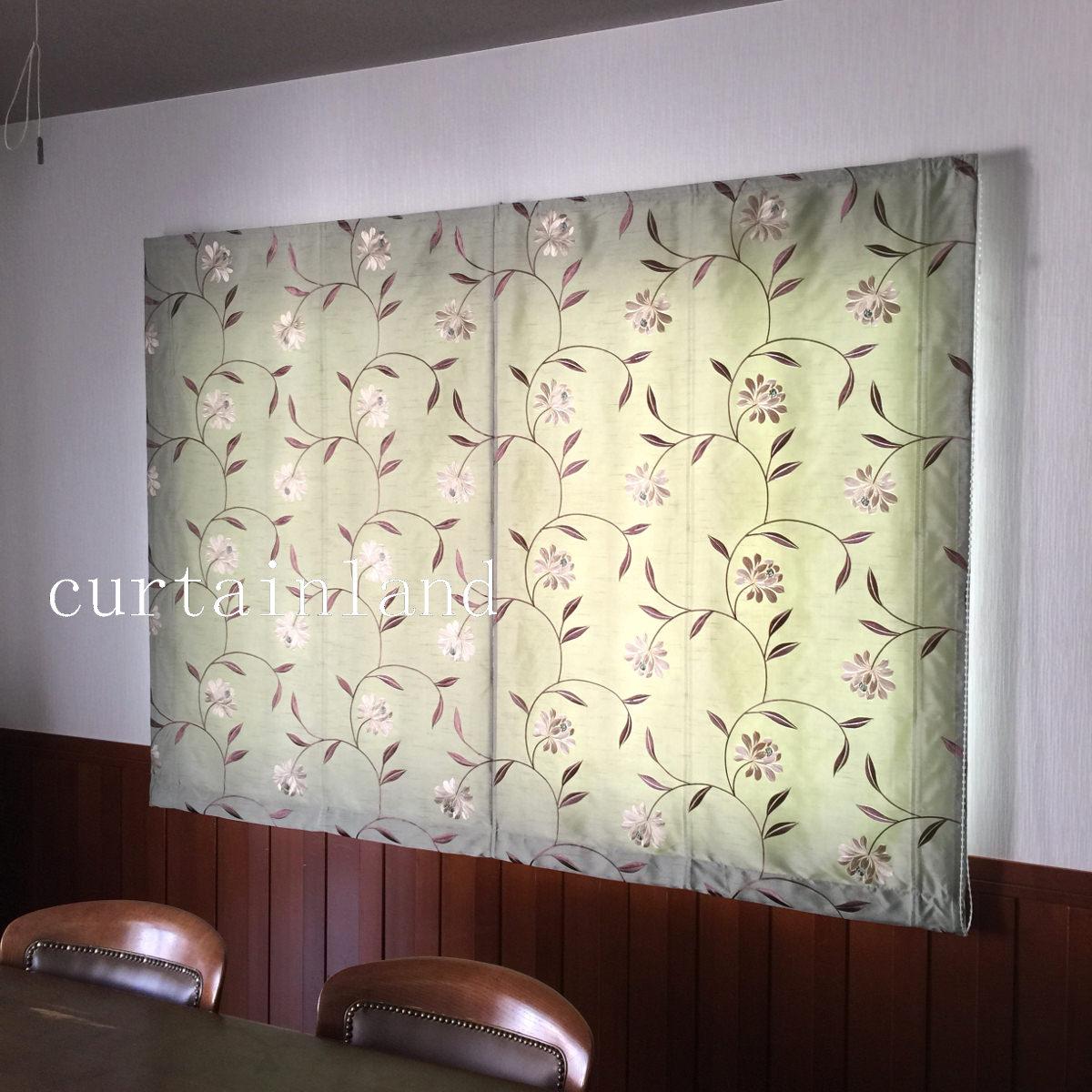 エレガンス花柄刺繍カーテン