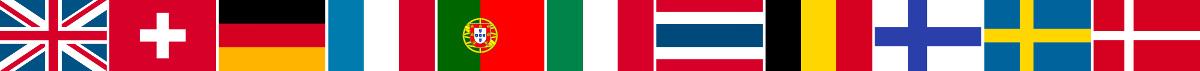 海外取扱い国の国旗
