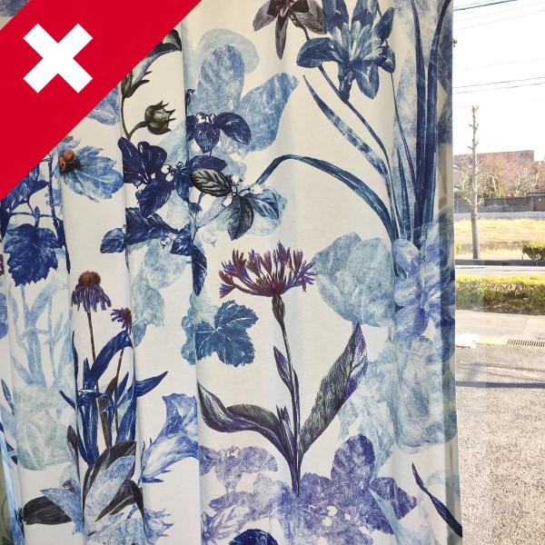 スイスの花柄カーテン