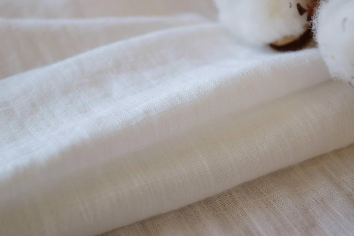 コットンダブルガーゼホワイトカーテン