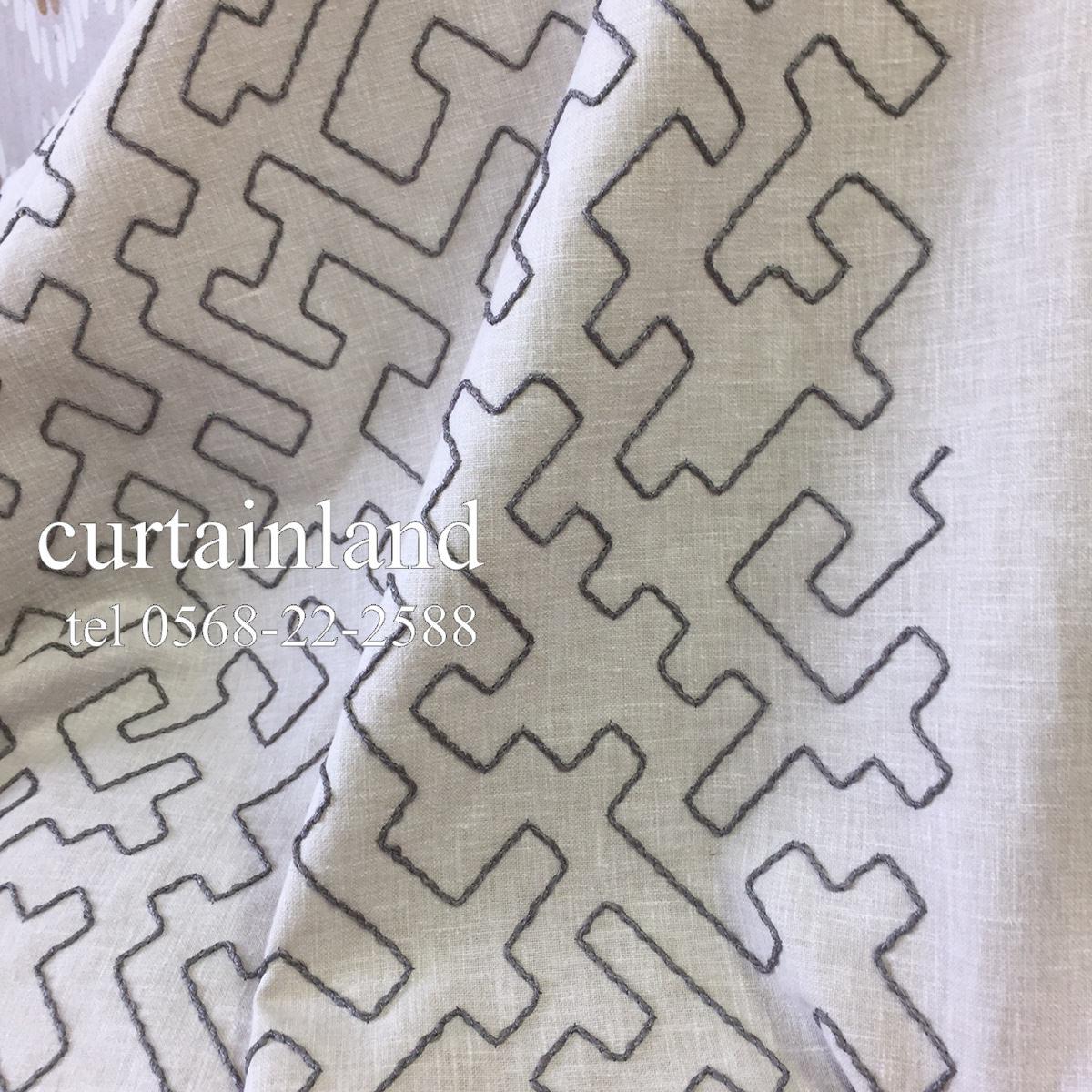 民族紋様コード刺繍カーテン