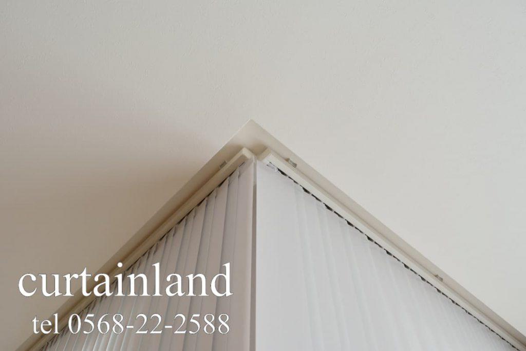 縦型ブラインドコーナー窓仕様の出隅納まり