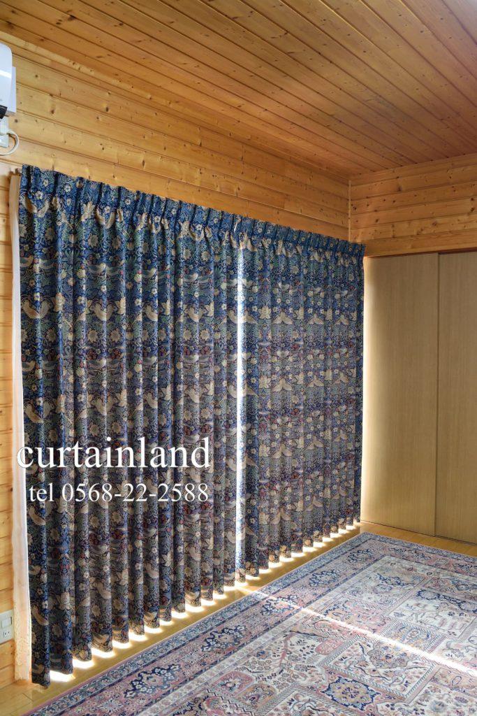 ウィリアムモリス高密度ジャガードカーテン