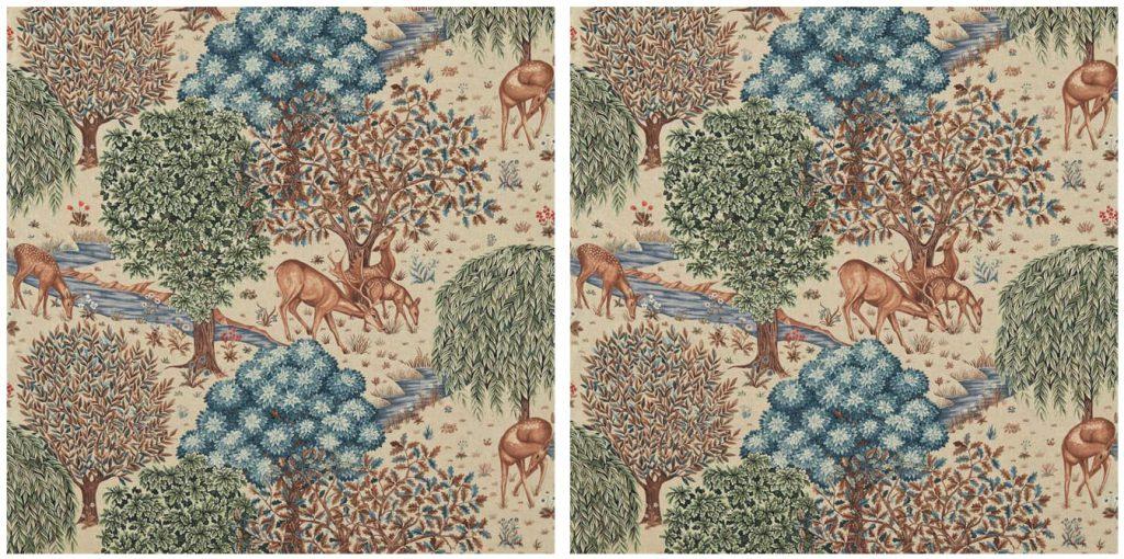 the brook 同じ柄位置で作るカーテン