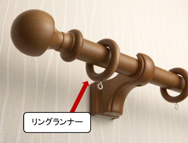 装飾ポールレールのリングランナーの説明