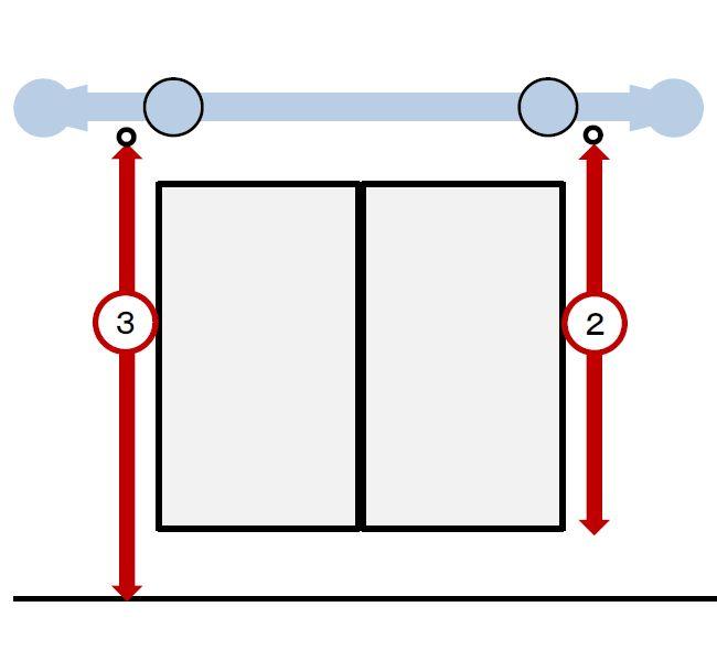 装飾ポールレールの採寸方法