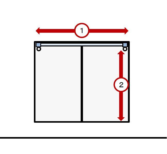 窓枠内取り付けの機能性レールの採寸方法