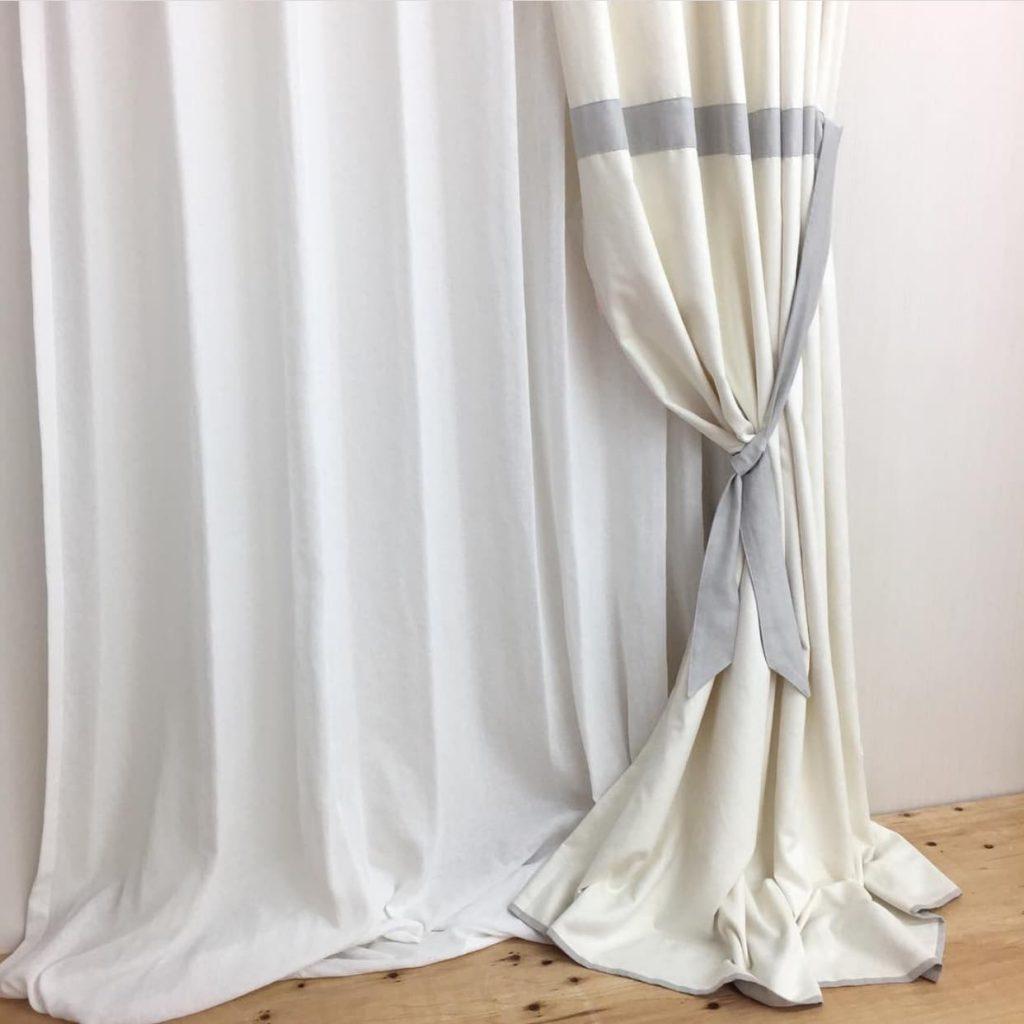 バイカラー マルチリボンスタイルカーテン