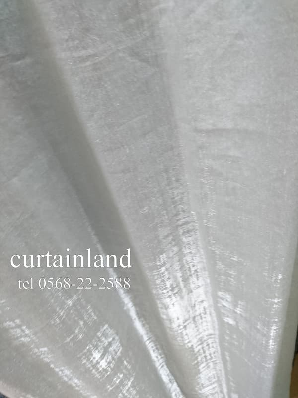 リネンが入っているのにキラキラベロア風のカーテン