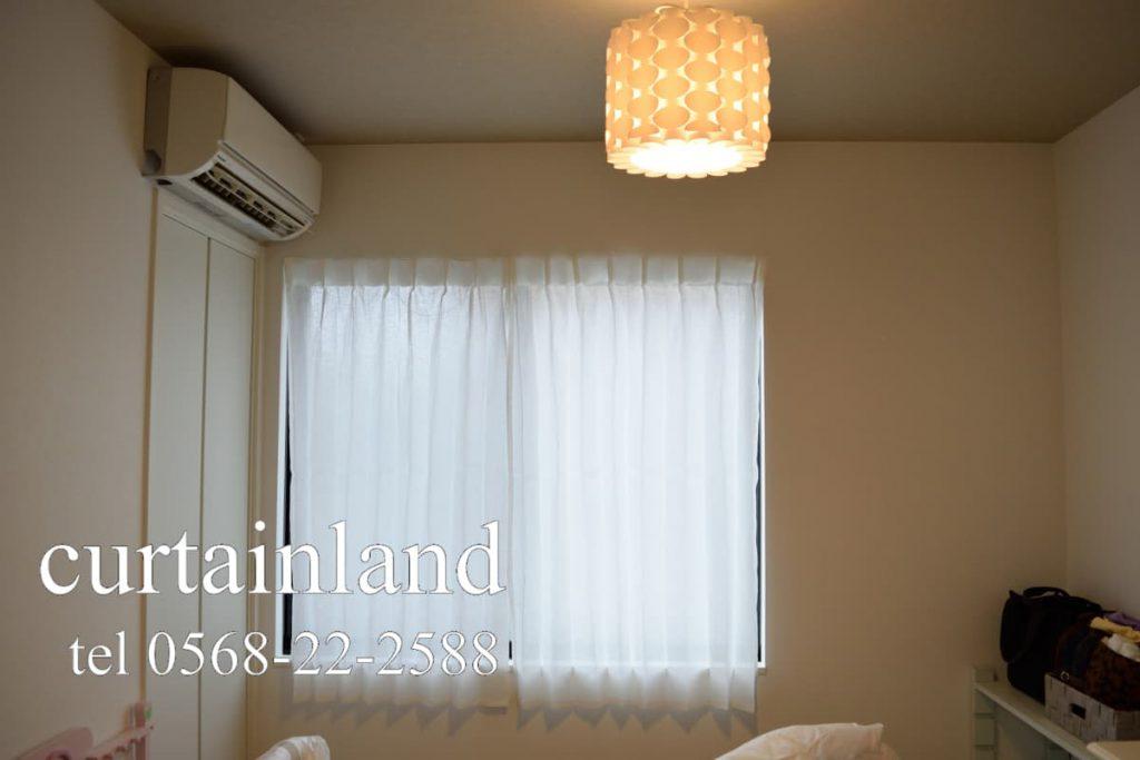 リノテキスタイルの「リノネージュ」を寝室に取り付けた施工例